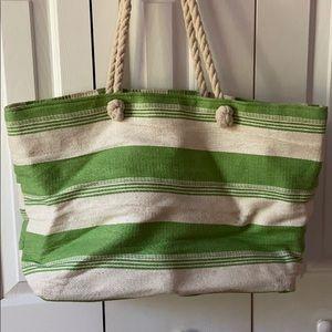 Handbags - Large Striped Beach Bag